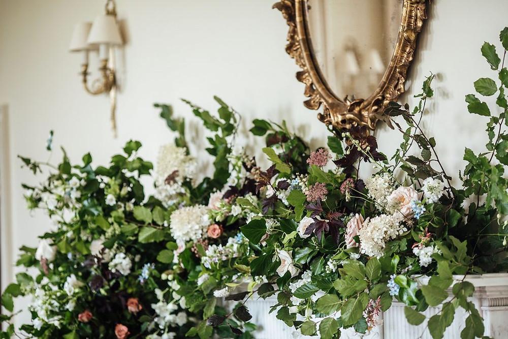 Pynes House Mantel Flowers