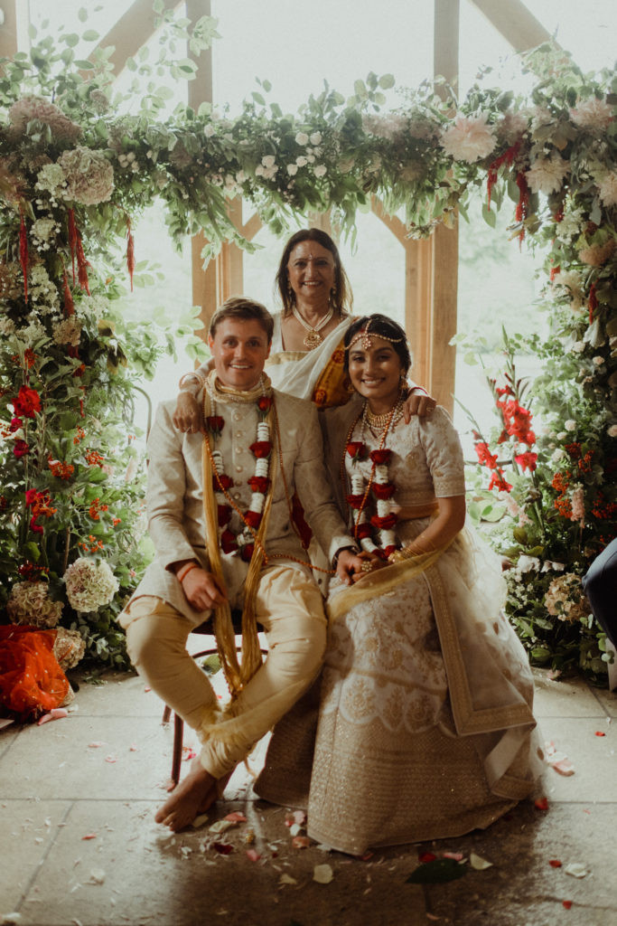 Indian wedding ceremony stone barn