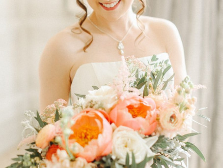 Dreamy coral peonies… the ultimate wedding flowers!