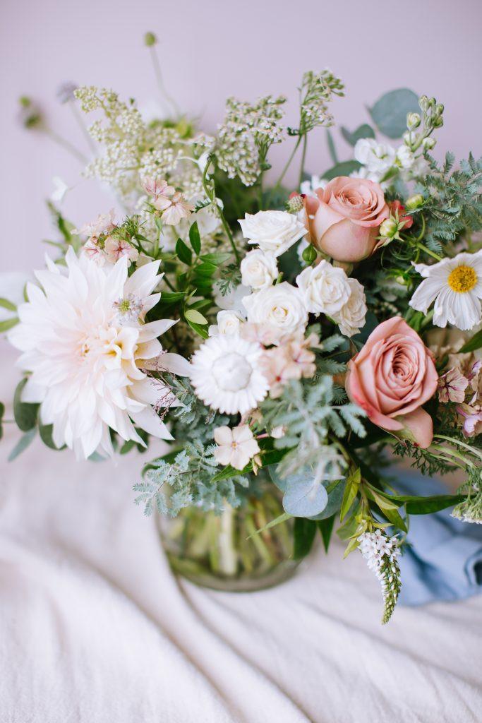 Cappuccino rose bridal bouquet