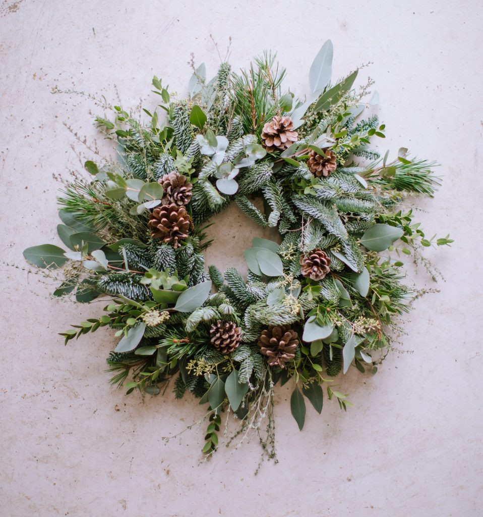 Winter foliage Christmas wreath