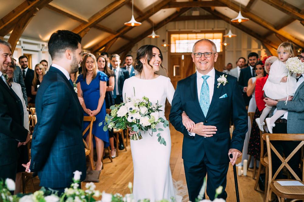 Hyde Barn Wedding Ceremony Flowers