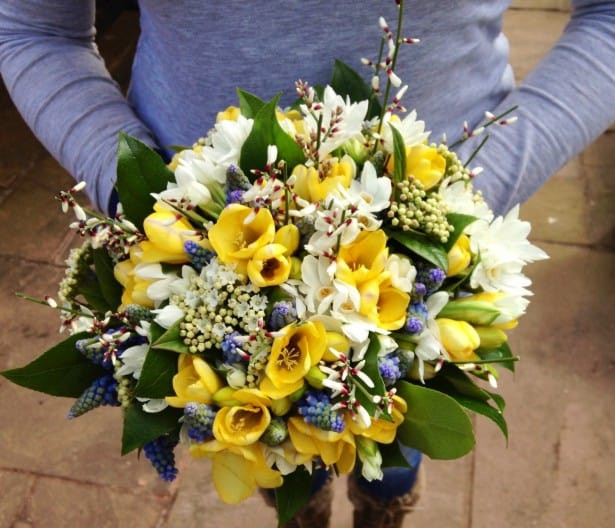 Spring wedding bouquet bristol