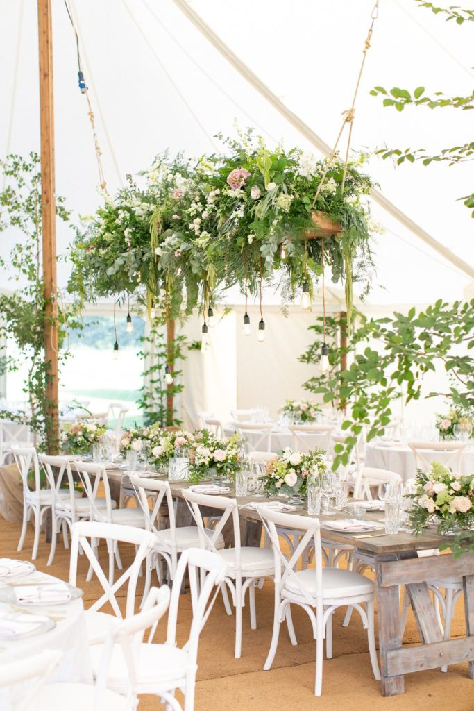 hanging marquee flowers