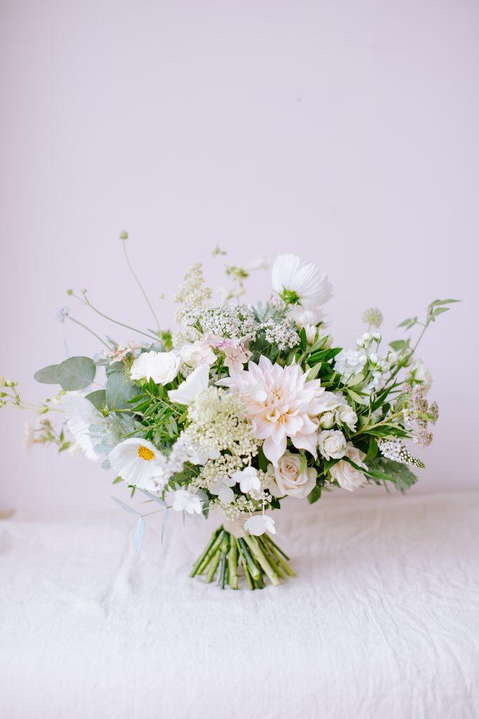 Ivory wedding flower bouquet