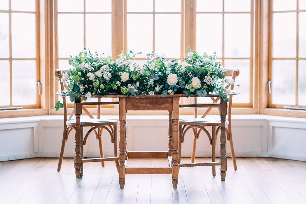 wedding ceremony table flowers