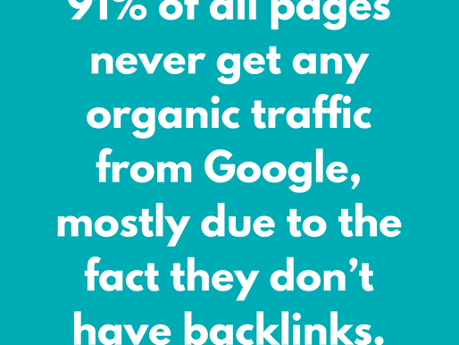 91% of Pages don't get Traffic