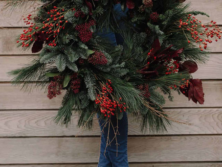 Christmas Wreaths at The Rose Shed
