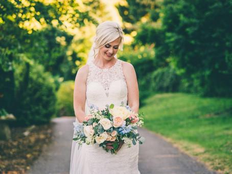 Summer wedding blooms at Kingscote Barn