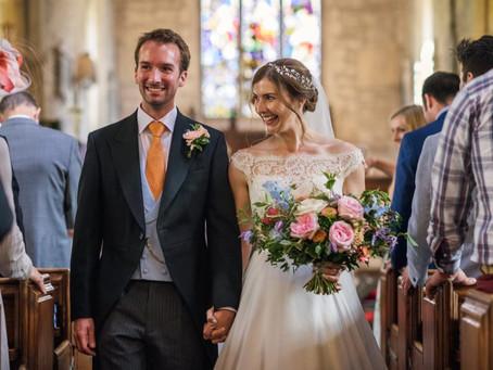 Colourful Marquee Wedding Flowers for a Bath Summer Wedding