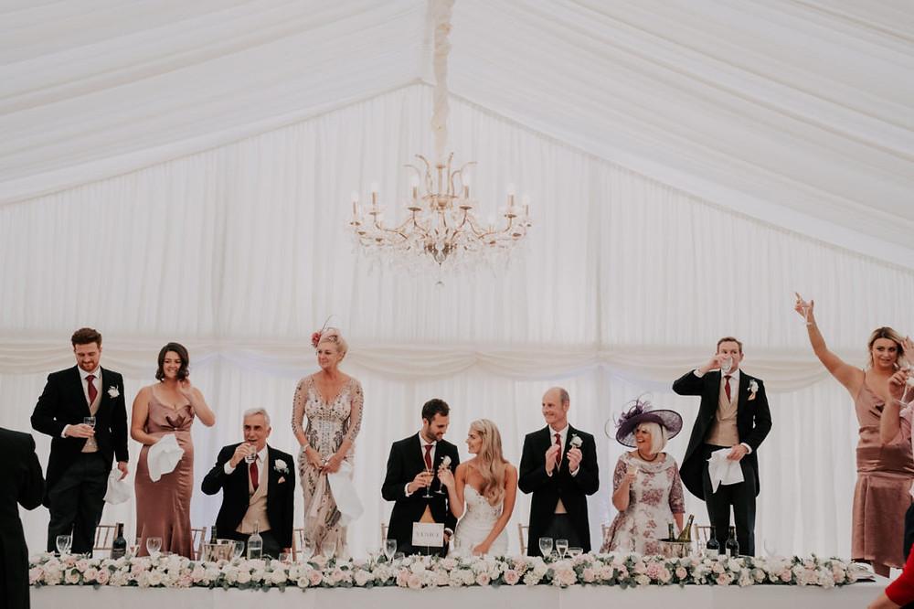 Luxury marquee wedding flowers