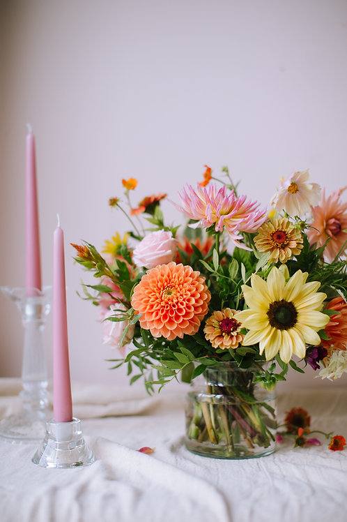 small wedding package table flowers