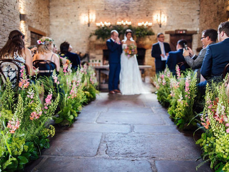 Summer brights for Carla and Craig at Cripps Barn!
