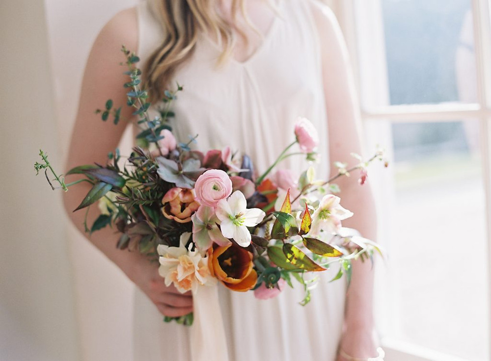 Tulip spring wedding bouquet