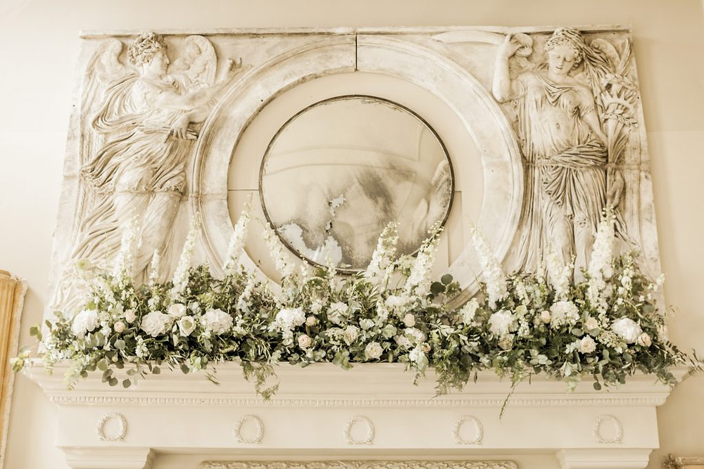 Aynhoe Park Mantelpiece Flowers