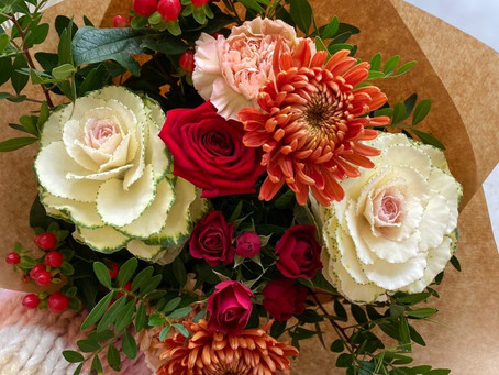 How to make an autumn bouquet
