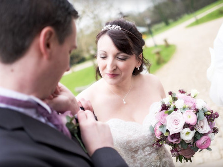 Spring wedding flowers at Haselbury Mill