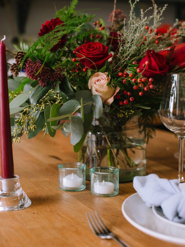 Christmas vase arrangement