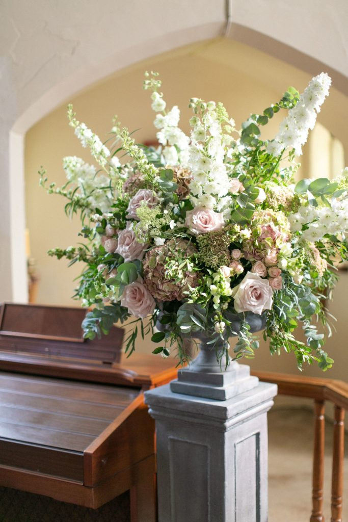 Large floral wedding urns