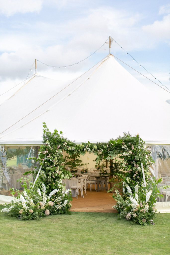 luxury marquee floral arch