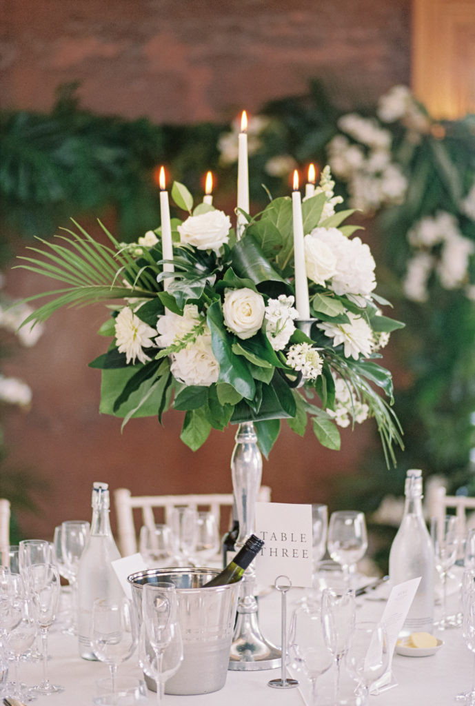 Gilly Flower table decorations at Elmore Court