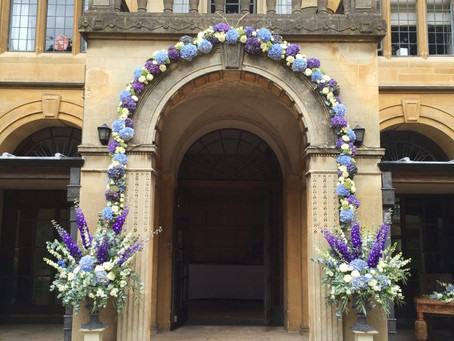 Beautiful blues for the gorgeous Coombe Lodge