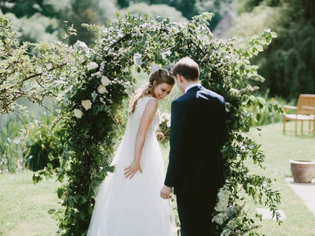 Cotswold outdoor wedding ceremony