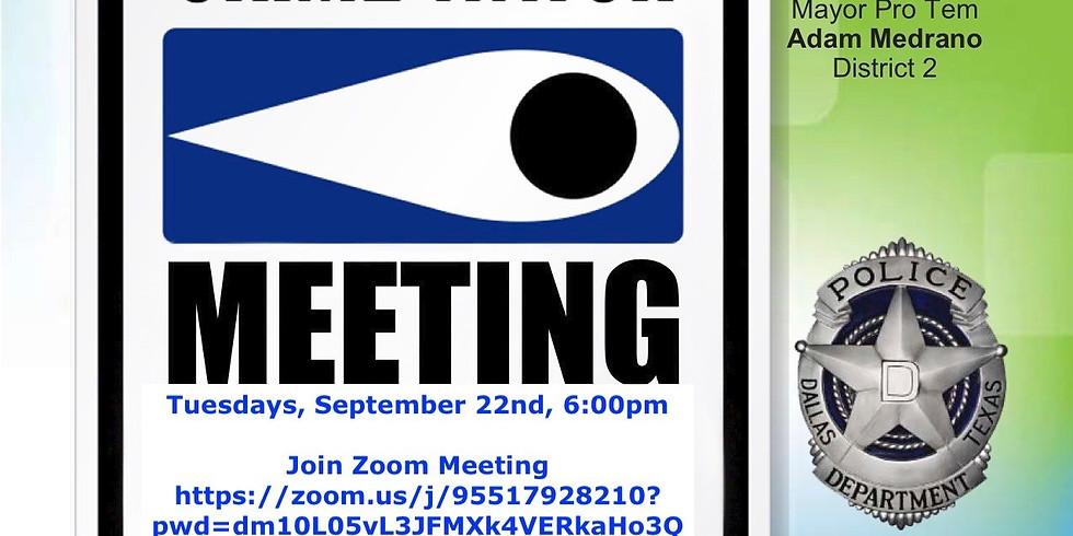 Virtual Crime Watch Meetings--District 2