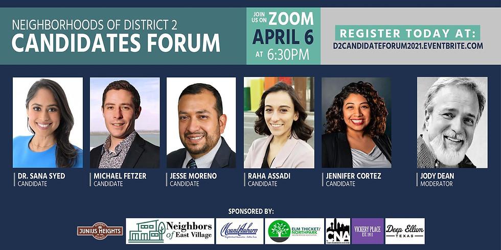 District 2 City Council Candidate Forum