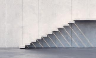 מדרגות בטון מרחפות