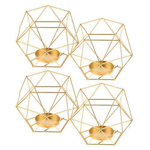 Mini Hexagonal Tealight Candle Holders