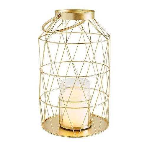 Gold Geometric Lantern