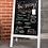 Thumbnail: Magnetic sidewalk chalkboard - white