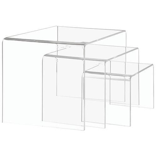 Clear Acrylic Riser Set of 2