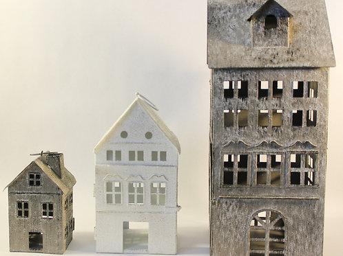 Galvanized House Lanterns sets of 3