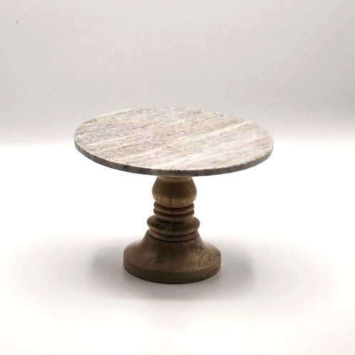 "Slate + Spindle 7"" Cake Stand"