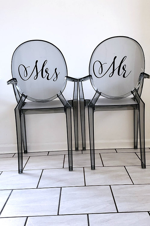 Mr & Mrs Louis Ghost Armchairs