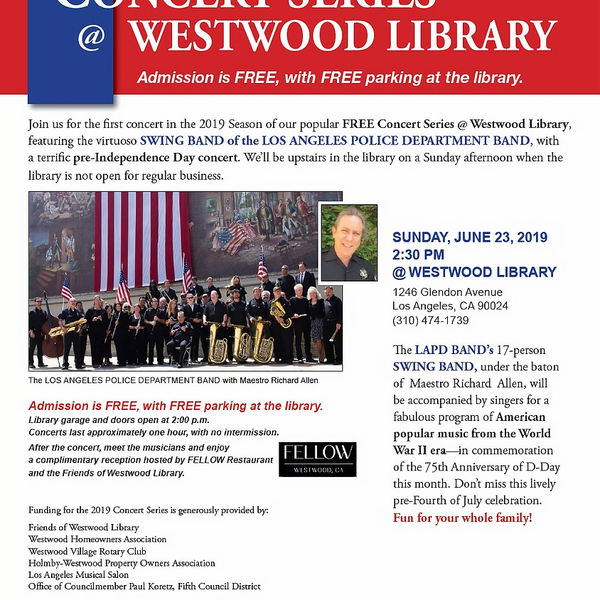 Concert Series @ Westwood Library