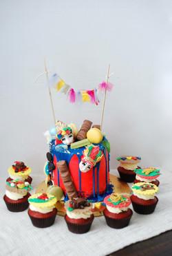 Fiesta themed cake & cupcakes