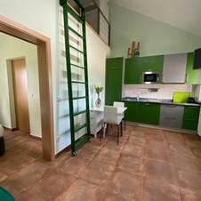 Salon cuisine vert