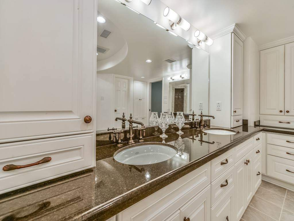 Luxury Pecan Grove Double Vanity