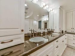 Luxury Pecan Grove Double Vanity
