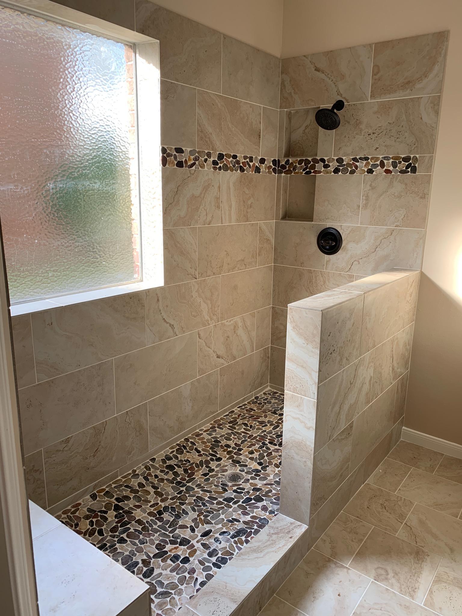 Pecan Grove Shower Enlargement