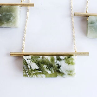 Brass & Serpentine Necklace