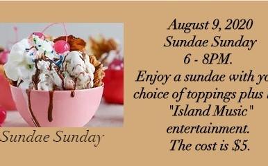 "Ice cream and ""island"" music at Sundae Sunday..."