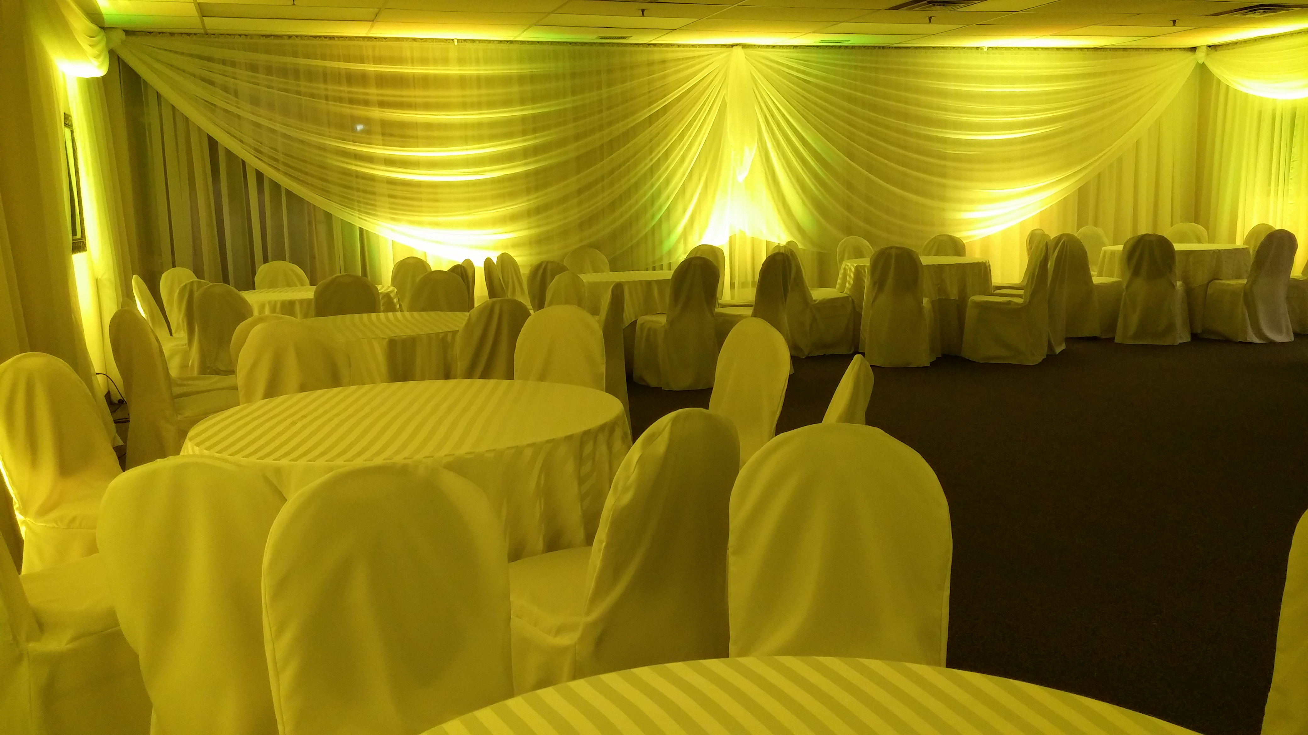 Uplighting Celebrations Party Hall