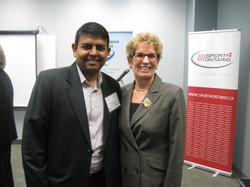 with Premier Ontario Kathleen Wynne