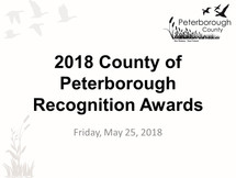 Peterborough County Recognition Awards