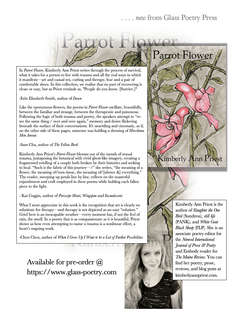 Parrot Flower available for Pre-order from Glass Poetry Press