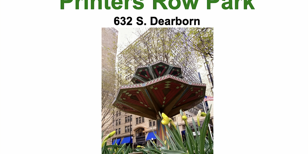 Clean and Green: Afternoon in Printer's Row Park
